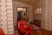 Sauna restroom interior fragment. Center of rest — Stockfoto