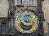 Astronomical clock on the Staromestsky town hall, the Prague chi — Stock Photo