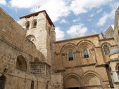 JERUSALEM, ISRAEL. Facade of Church of the Resurrection — Stock Photo