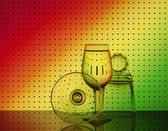 Bar glassware — Stock Photo