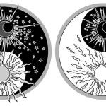 Yin & Yang - Day & Night — Stock Vector #61006187