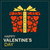 Gift box frame for Christmas season, Valentines day, Birthday and Weddings, vector illustration. — Stock Vector