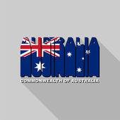 Australia flag typography, t-shirt graphics — Stock Vector