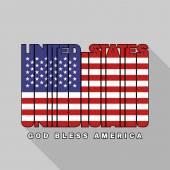 USA flag typography, t-shirt graphics — Stock Vector