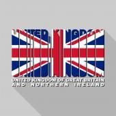 United Kingdom flag typography, t-shirt graphics — Stock Vector
