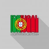Portugal flag typography, t-shirt graphics — Stock Vector