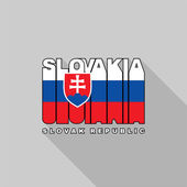 Slovakia flag typography, t-shirt graphics — Stock Vector