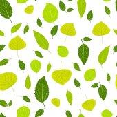 葉のシームレスなパターン — ストックベクタ