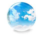 Bolha de vidro de nuvens — Foto Stock