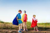 Děti superhrdina — Stock fotografie