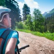 Cycling in mountains — Stock Photo #64609267