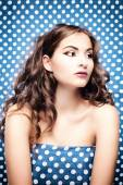 Glamour portrait of a girl in an art style. — Stockfoto