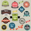 Set of vector stickers and ribbons — Stock Vector #53174681