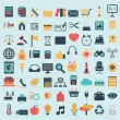 Flat icons design modern set of various financial service items, web and technology development, business management symbol, marketing items and office equipment — Stock Vector #53176377