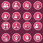平现代人力资源开发与管理图标集 — 图库矢量图片