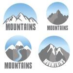 Mountains emblem set, modern design — Stock Vector #53385717