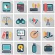 Vector collection of colorful flat business and finance icons with long shadow. Design elements for mobile and web applications. — Stock Vector #53385887