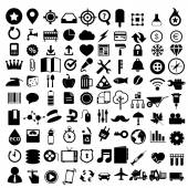Flat icons design modern set of various financial service items, web and technology development, business management symbol, marketing items and office equipment — Stock Vector