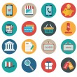 Vector collection of modern flat and colorful shopping icons. Design elements for mobile and web applications. — Stock Vector #53461709