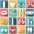 Sex icons set — Stock Vector #53461725