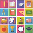 Set of flat education icons, school modern style — Stock Vector #53461787