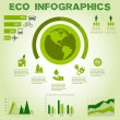 Green energy, ecology info graphics collection - ENERGY industry - charts, symbols, graphic elements — Stock Vector #53462135