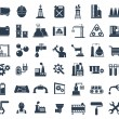 Industry, energy and construction icons set, industrial and engineering — Stock Vector #53462159