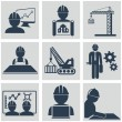 Computer service and Engineering vector icons set — Stock Vector #53462361