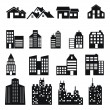 Buildings icons. Real estate. — Stock Vector #53462689