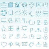 Thin Icons for web and mobile Set — Stock Vector