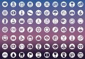 Set of icons for web and user interface design — Stock Vector