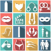 Sex icons set — Stock Vector
