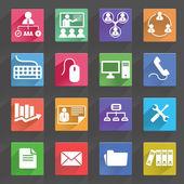 Affärs- och ikoner set — Stockvektor