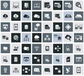 Networking, storage and Communication icon set,vector — Wektor stockowy