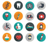 Flat modern medical icons set — Vector de stock
