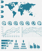 Detail infographic vector illustration. World Map and Information Graphics — Stock Vector