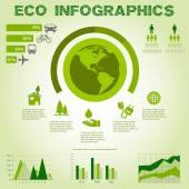 Green energy, ecology info graphics collection - ENERGY industry - charts, symbols, graphic elements — Stock Vector