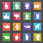 Hand gestures icons set — Stock Vector