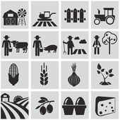 Agriculture, farm icons — Vecteur