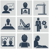 Computer service and Engineering vector icons set — Vettoriale Stock