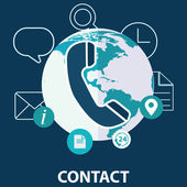 Vector contact us concept illustration — Stock Vector