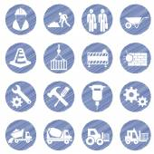Vector construction icon set — Stock Vector