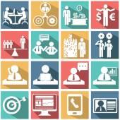 Set di icone di risorse umane e gestione — Vettoriale Stock