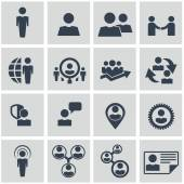 Title Human resources and management icons set — Vector de stock