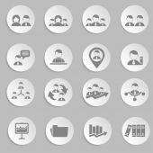 Title Human resources and management icons set — Stock Vector
