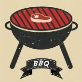 Grill BBQ Cookout Vector — Stock Vector