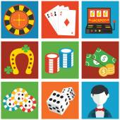 Vector casino flat icons — Stockvector