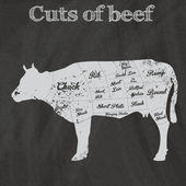 Illustration of Beef Cuts Chart (cow) — Stock Vector