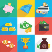 Finance and money icon set — Stock Vector