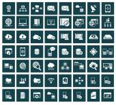 Networking, storage and Communication icon set,vector — Vector de stock